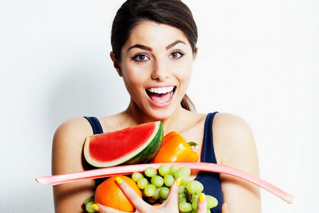 Sağlıklı bir cilt için renkli diyet